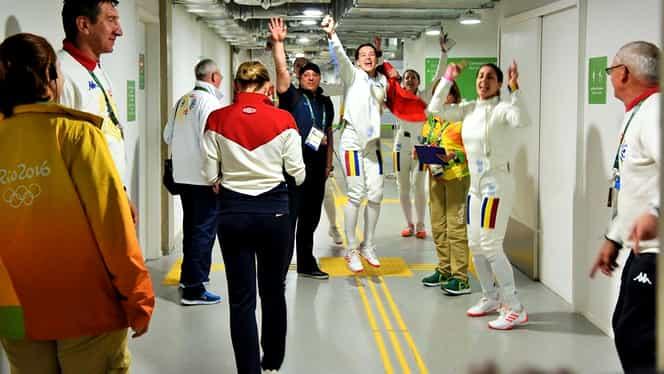 """Galerie FOTO. Cum au sărbătorit fetele aurul olimpic: """"Am comis-o!"""""""
