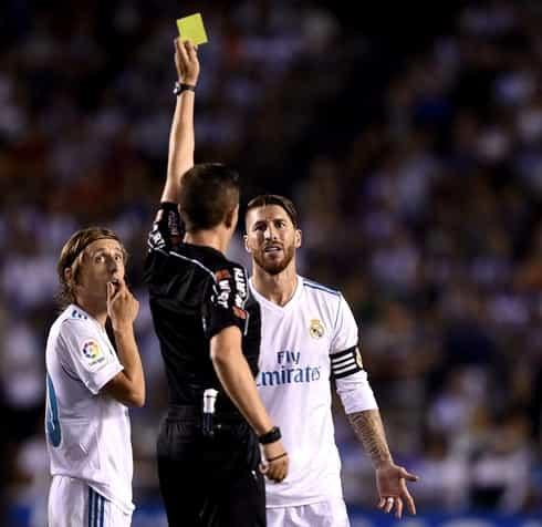 """Recorduri negative pentru Sergio Ramos. E jucătorul cu cele mai multe """"galbene"""" din Champions League"""