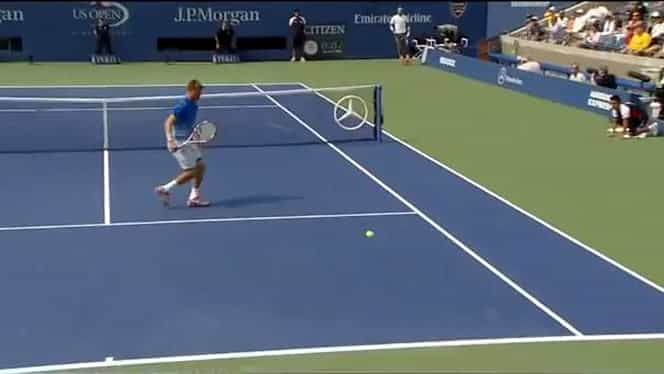 VIDEO / Retur nebun reuşit de Rafa Nadal la US Open