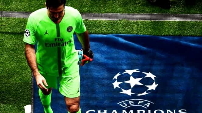 Gianluigi Buffon continuă coşmarul în Champions League! Cum a fost eliminat în ultimii 5 ani din Ligă: gafe, cartonaşe roşii, drame