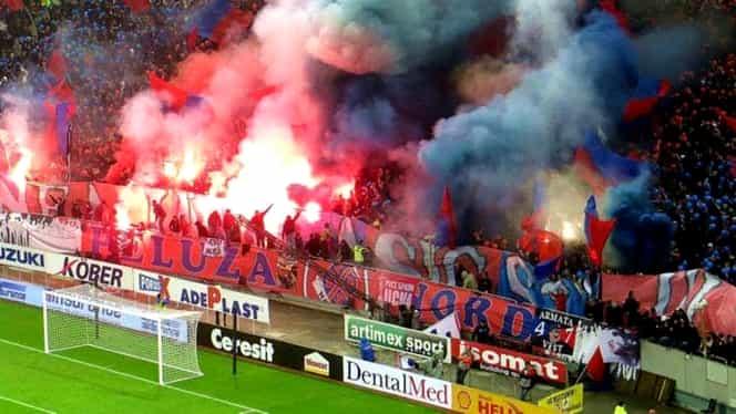 Ultima prezență a Peluzei Nord la derby! Acum cinci ani făceau spectacol în tribune la FCSB – Dinamo. VIDEO