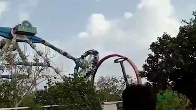 Accident înfiorător într-un parc de distracții! Doi oameni au murit după ce o instalație s-a prăbușit peste ei