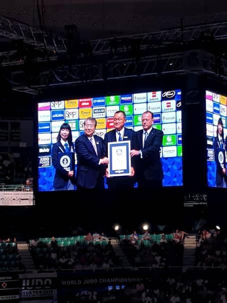"""""""Shogunul"""" Marius Vizer a fost una dintre personalitățile proeminente la deschiderea CM de judo de la Tokyo, în luna august a acestui an"""