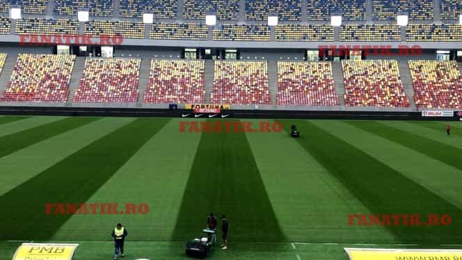 Imagini cu gazonul de pe Arena Națională. Arată impecabil înainte de FCSB – Dinamo. FOTO EXCLUSIV