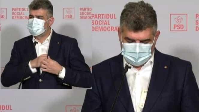 Marcel Ciolacu, cu banii la vedere. Bancnotele liderului PSD au dat pe afară în timpul unui discurs