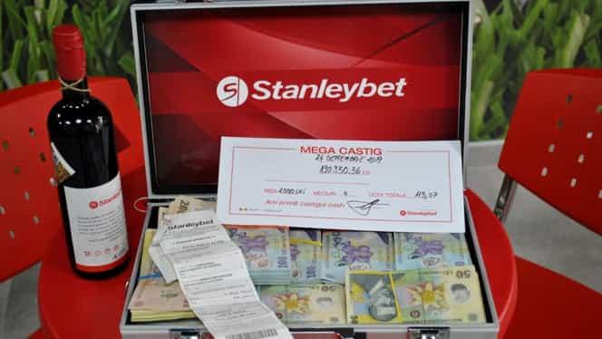 A câștigat 215.378,36 lei pe primul bilet pus la Stanleybet