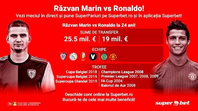 Îl poate învinge Răzvan Marin pe Cristiano Ronaldo?! Pune SuperPariurile care-ți îmbogățesc weekendul!