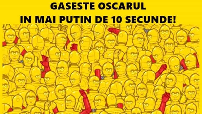 Testul care a înnebunit internetul! Găseşte statueta Oscar în doar zece secunde