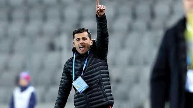 Foto! Dică, pus la pământ de propriul său jucător, în timpul meciului Astra – FCSB!