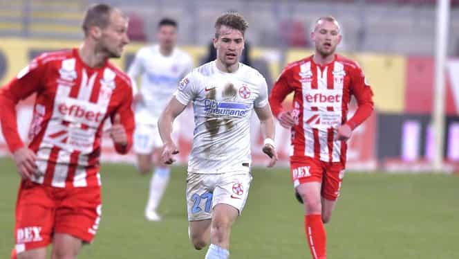 Darius Olaru a revenit pe teren! Toni Petrea l-a introdus în derby-ul FCSB – CFR Cluj. Fanatik confirmat