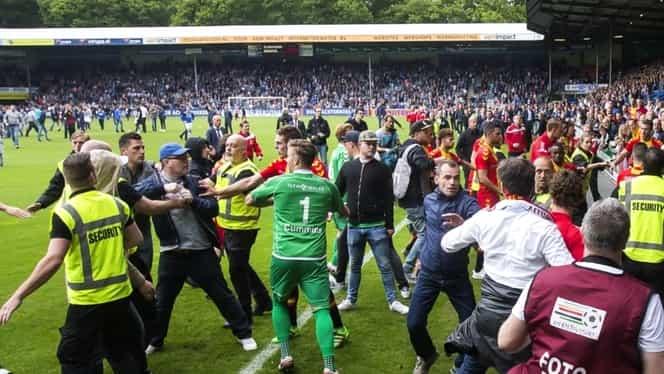 Video. Incidente grave! Fanii s-au bătut cu jucătorii pe teren