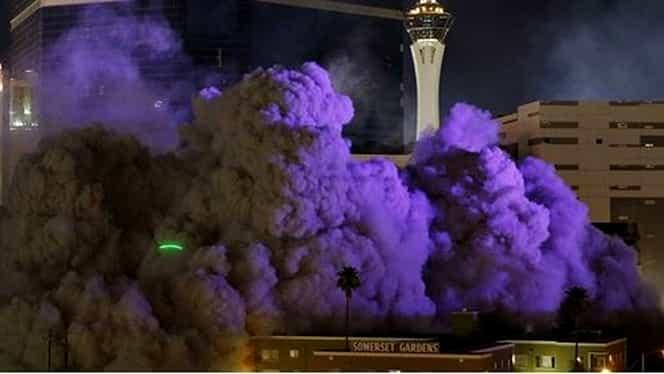 VIDEO.Un celebru cazino din Las Vegas a fost făcut PRAF SI PULBERE!