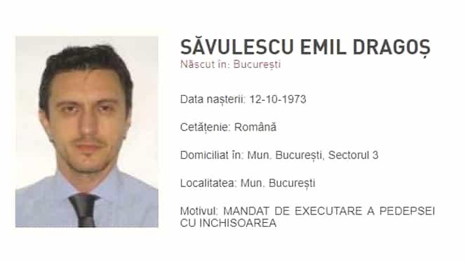 Dragoș Săvulescu, fost acționar la Dinamo, dat în urmărire generală de Poliția Română!