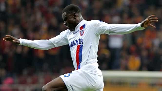 Dinamo și-a adus un atacant nigerian care nu a mai jucat de un an. Pe ce perioadă semnează
