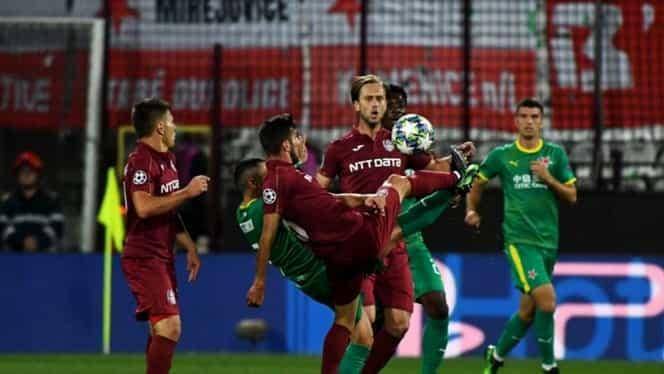 CFR Cluj – Slavia Praga 0-1 în Champions League. VIDEO cu rezumatul! Înfrângere dramatică în Gruia! Ardelenii mizează totul în returul din Cehia