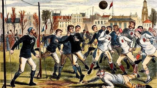 Foto. 145 de ani de la primul meci internaţional. Gol anulat din cauza unei panglici de mătase!