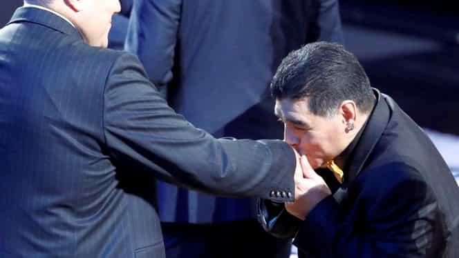 Gest neaşteptat al lui Diego Maradona la tragerea la sorţi pentru CM 2018!
