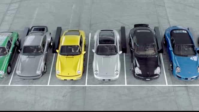 VIDEO / Simfonia celor şapte generaţii de Porsche 911