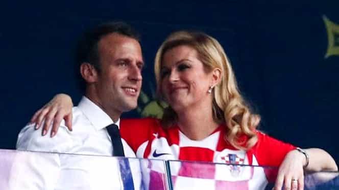 Cum a reacționat soția lui Macron la îmbrățișările repetate cu președinta Croației