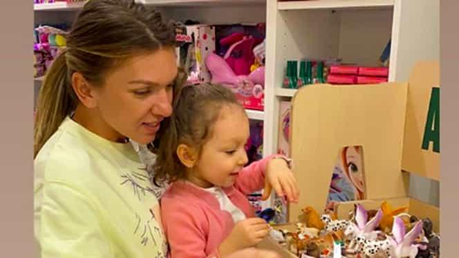 Simona Halep, imagini superbe alături de cel mai mare fan, nepoțica Tania. Imaginile postate de a doua jucătoare a lumii