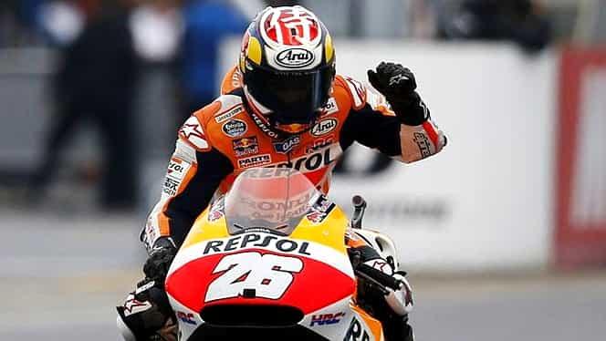 Pedrosa a cîştigat Marele Premiu al Japoniei, Rossi se apropie de TITLU