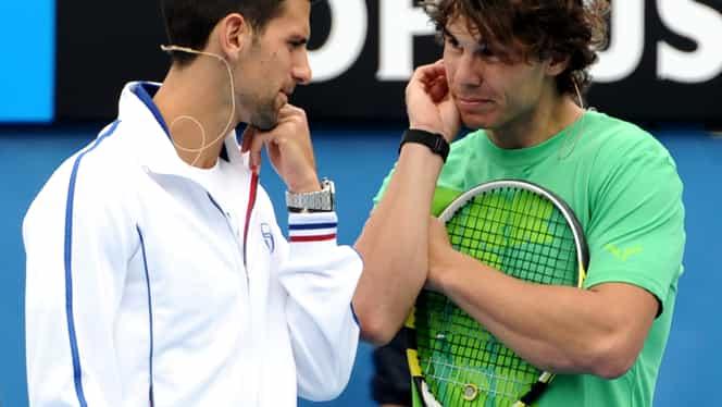 """VIDEO / Nadal şi Djokovic s-au """"încins"""" la fotbal! Vezi cine a cîştigat"""