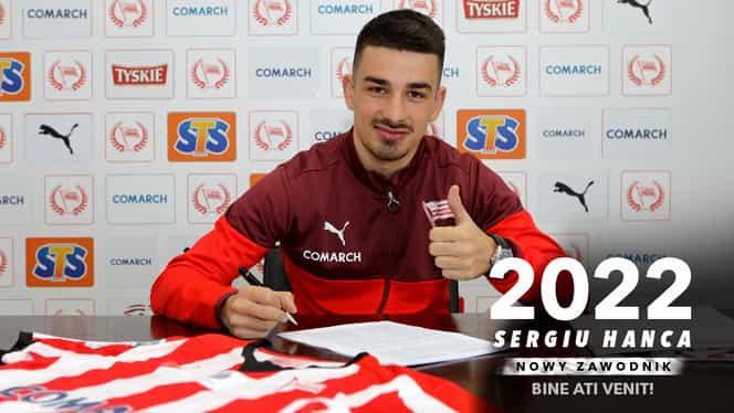 Sergiu Hanca s-a transferat la MKS Cracovia! Vezi pe ce perioadă a semnat. Foto