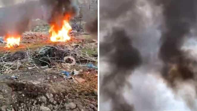 Adio, aer de munte în Bucureşti. Deșeurile arse la marginea Capitalei, otravă curată pentru plămânii locuitorilor