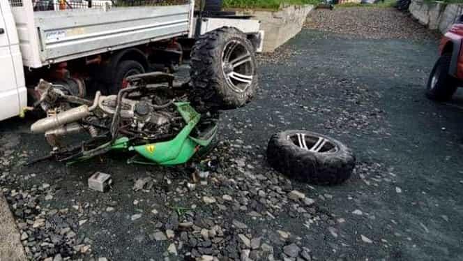 Accident teribil cu un ATV, din cauza vitezei prea mari. Un tânăr de 27 de ani a decedat pe loc