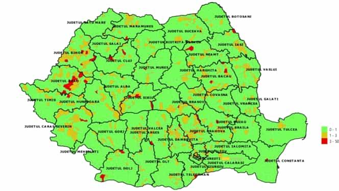 Cum arată harta epidemiologică pe județe pentru începerea anului școlar! Ce localități au probleme și merg în sistem online