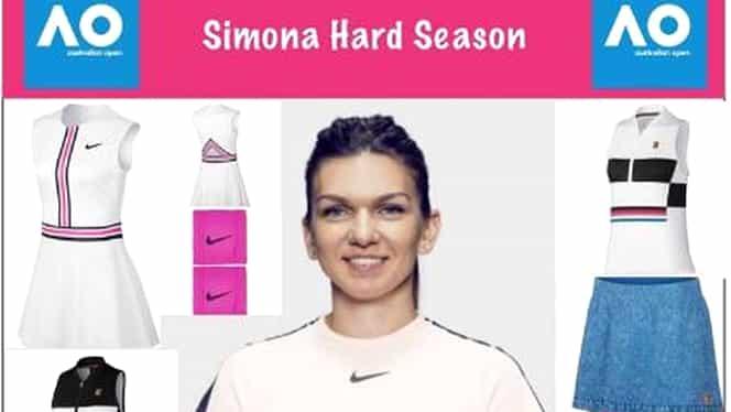 """Cum arată noul echipament Nike pe care îl va purta Simona Halep la Australian Open. Galerie FOTO. Anul trecut uimea cu rochia """"no name"""""""