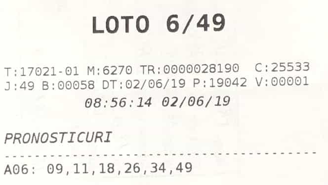 Cine este câștigătorul premiului de peste 610.000 de euro de la Loto 6/49. Cum a ales numerele norocoase