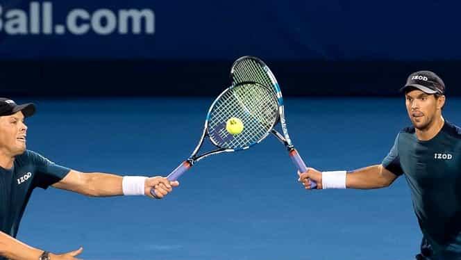 """Video. Fraţii Bryan, trofeul 37 de Masters al carierei! Deşi au pierdut """"cel mai frumos punct din istoria tenisului la dublu"""""""