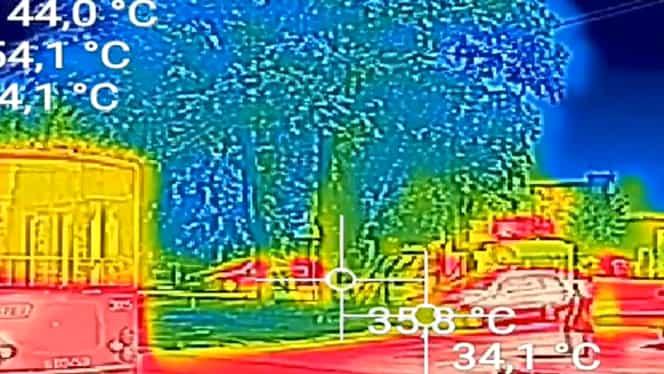 Temperaturi critice în România. Peste 70 de grade la soare! Ce a surprins o cameră cu termoviziune