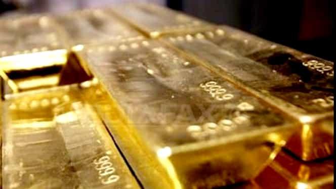 Preţul aurului, la cel mai redus nivel din ultimele trei luni