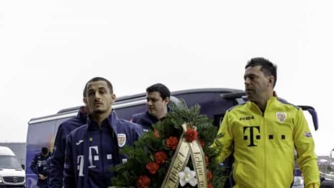 """Foto. Contra şi """"tricolorii"""" i-au adus un ultim omagiu lui Nicolae Tilihoi"""