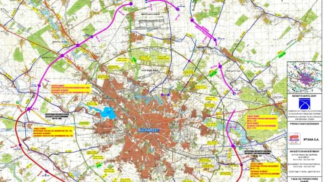 S-a deschis licitația pentru cercul de nord al Autostrăzii de centură a Capitalei. Cât costă cele 3 loturi și cât va dura execuția lucrărilor