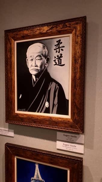 """Tabloul înfățișându-l pe părintele judo-ului, maestrul Jigorō Kanō, al pictorului român Eugen Vasile a fost caracterizat de japonezi drept """"o emoționantă capodoperă"""""""