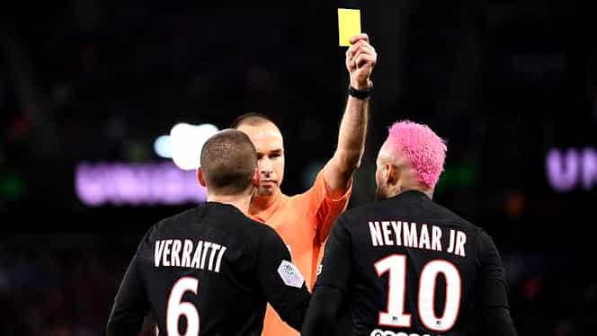 Moment unic în fotbal! Neymar a primit cartonaș galben pentru că a încercat să-și ridiculizeze adversarul. VIDEO