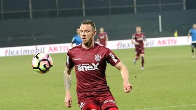Atenție, imagini șocante! Cristi Bud, accidentare gravă la antrenamentul echipei CFR Cluj