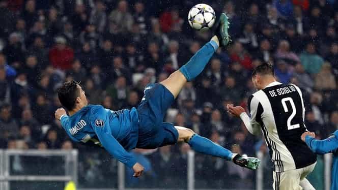"""Foto. Aşa tată, aşa fiu! Ronaldo Jr. a imitat """"foarfeca"""" lui CR7 pe """"Bernabeu"""""""