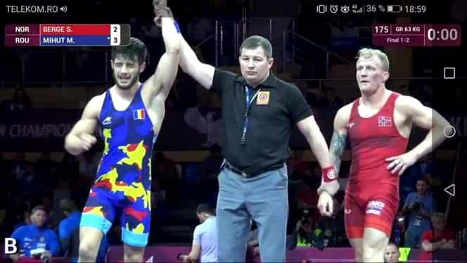 Mihai Mihuţ, campion european la lupte greco-romane! Alin Alexuc, medalie de bronz