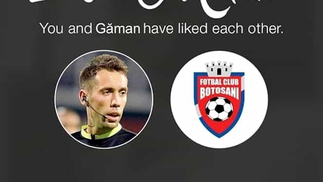 """Imaginea zilei! FC Botoşani """"s-a combinat"""" cu Găman pe Tinder"""