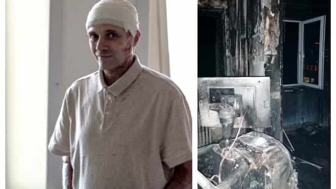 Primele imagini cu medicul erou după incendiul de la Piatra Neamț. Cătălin Denciu a început să-și revină. Foto