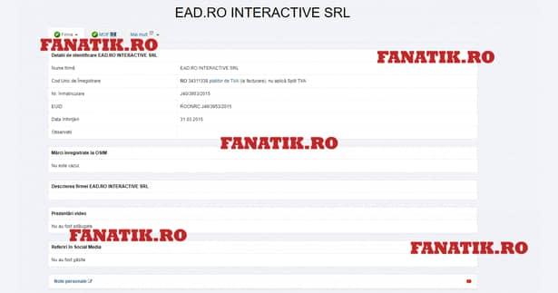 EAD.RO Interactive SRL, firma care plătește 28 de milioane de euro în fiecare an pentru drepturile TV din Liga 1 Betano