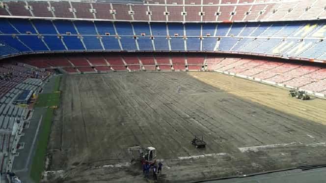 Sistem de ultimă generaţie pentru îmbunătăţirea gazonului pe Camp Nou