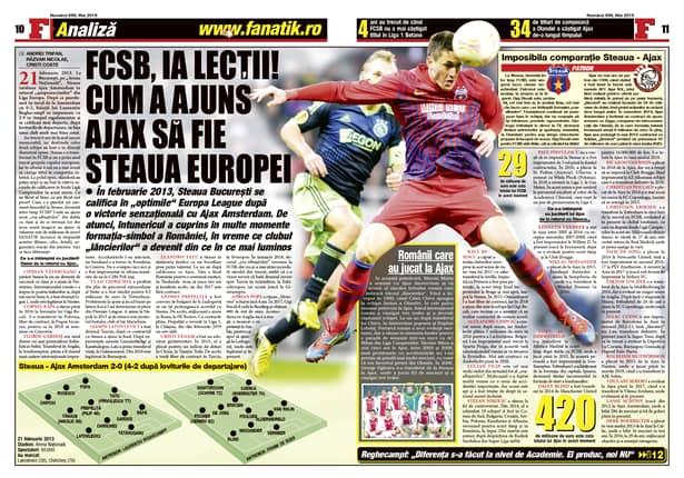 Comparația imposibilă dintre Steaua / FCSB și Ajax Amsterdam, numai în revista FANATIK din mai! De la patroni la jucători, cifre, bani, statistici!