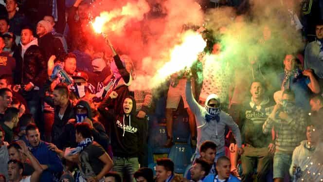 Protestul fanilor lui FC U, oprit de jandarmi