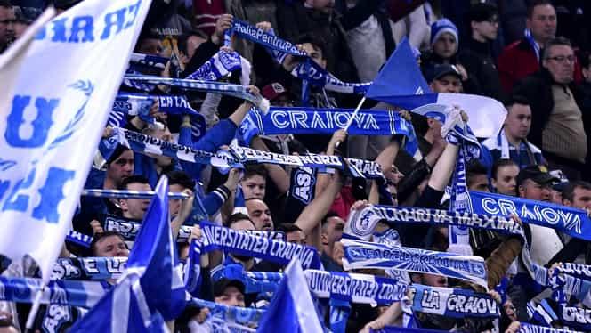 """Video. Fanii lui CS U Craiova au făcut spectacol """"ca la Borussia Dortmund"""""""