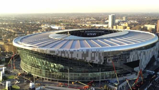 Cum s-a construit stadionul de un miliard de euro al lui Tottenham Hotspur! Trei ani de muncă într-un clip de două minute! Video